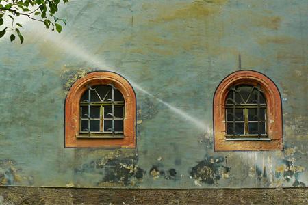 En isblästring kan utföras på fasader och annat i Stockholm.